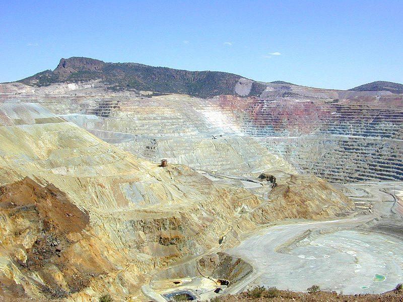 fuente: wuikipedia La mina de cobre de El Chino, en Silver City.