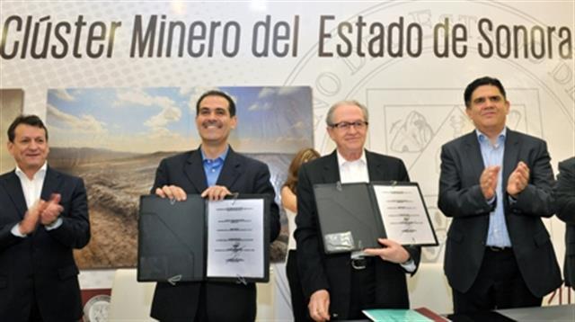 Formalizan cluster minero en Sonora