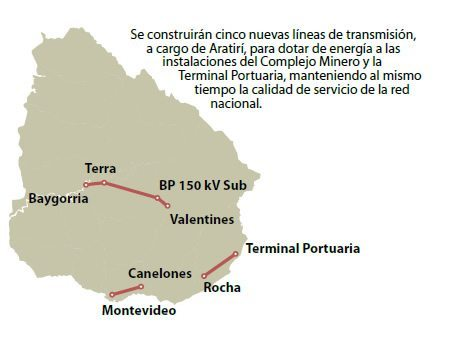Mapa de Líneas de Alta Tensión