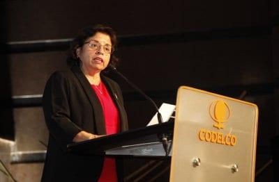 Ministra de Minería, Aurora Williams.