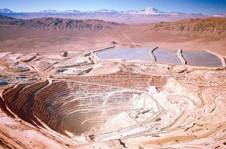 BHP Billiton Group's copper mine at Escondida, Chile - the world's la