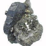 Estriado, tabular Bournonite