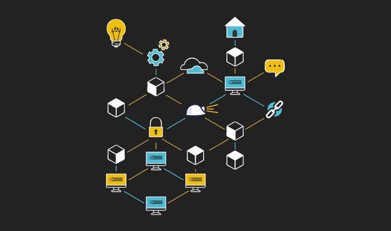 Imagen de blockchain mineria