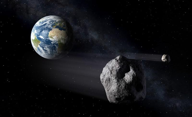 Imagen de asteroide que pasa por la Tierra.