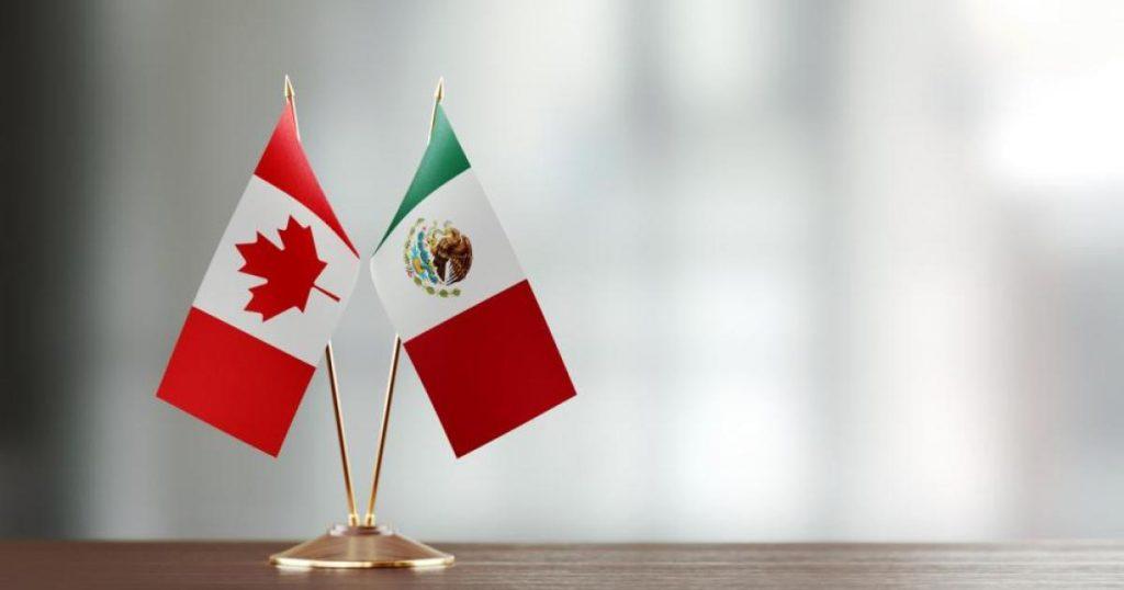 Bandera México - Canadá