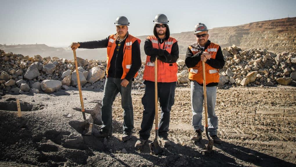 Mineros en Buenavista del Cobre. Sonora