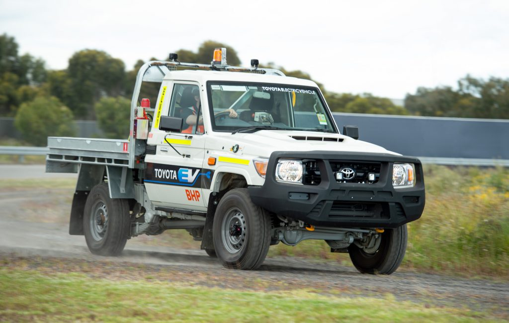 Toyota LandCruiser70 2021 eléctrico para BHP