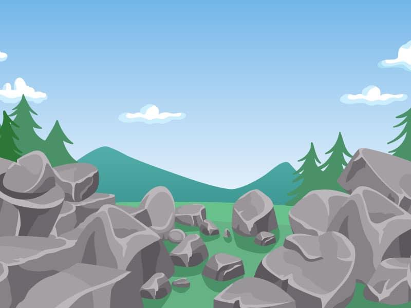Imagen de minerales y montañas